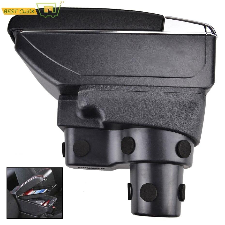 Car Armrest For Hyundai Solaris 2 Accent Verna 2017 2018 Centre Arm Rest PU Leather Center Console Storage Box Tray